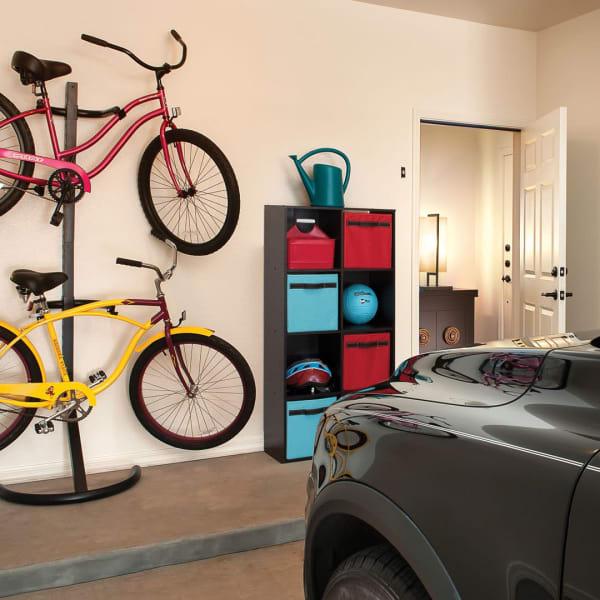 Garage with bike storage in model home at San Valencia in Chandler, Arizona