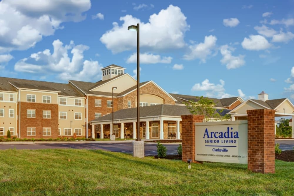 Front view of Arcadia Senior Living Clarksville in Clarksville, TN