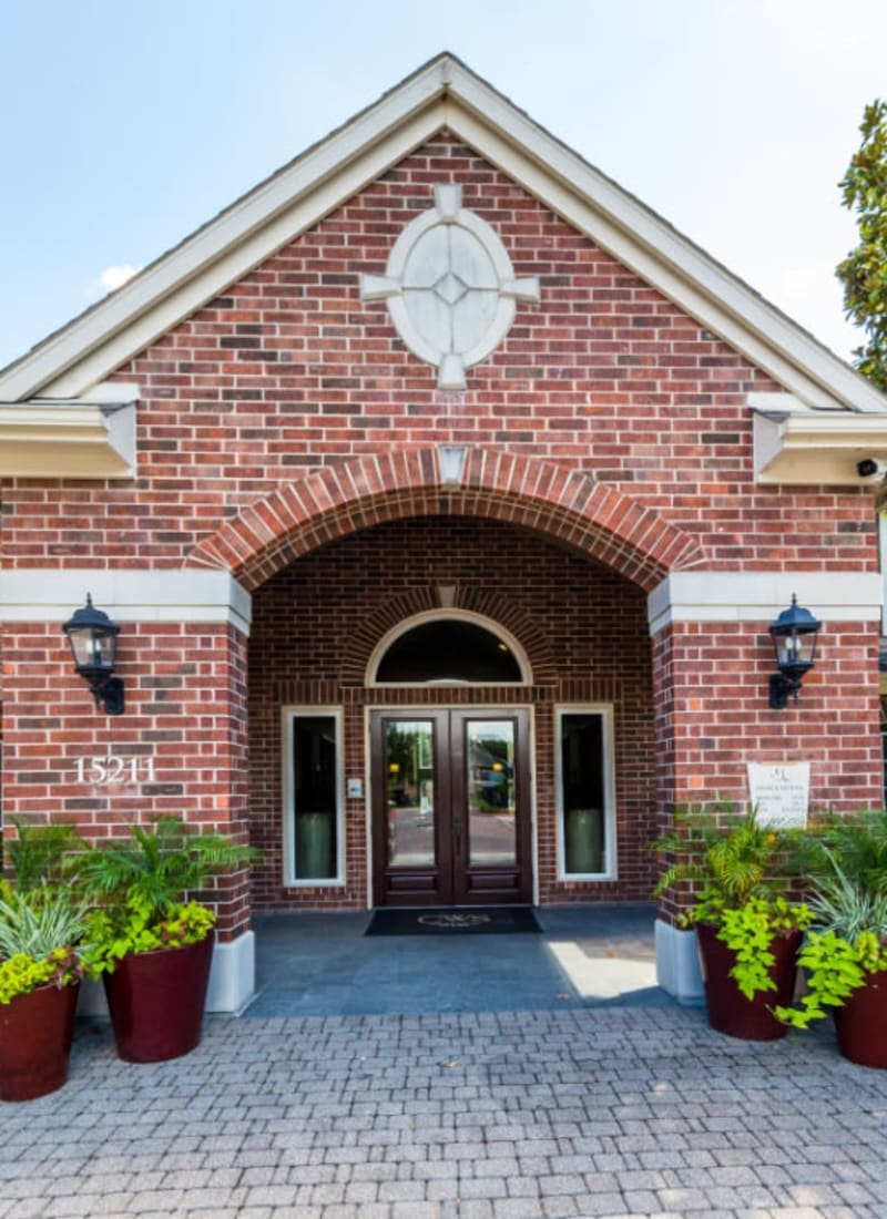Clubhouse main entrance at Marquis on Park Row in Houston, Texas