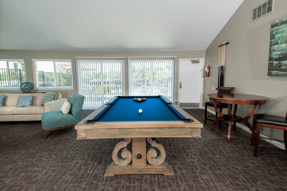 pool table view at Ridgecrest Apartment Homes