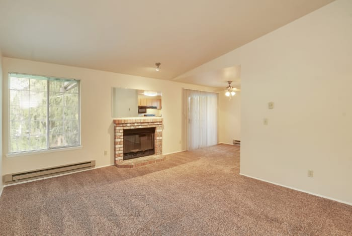 Living room at Arbor Square Apartments in Olympia, Washington