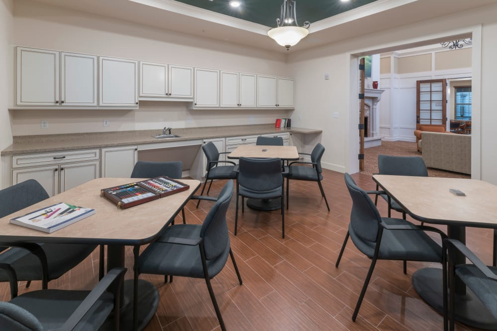 Activity room at Merrill Gardens at ChampionsGate in ChampionsGate, Florida