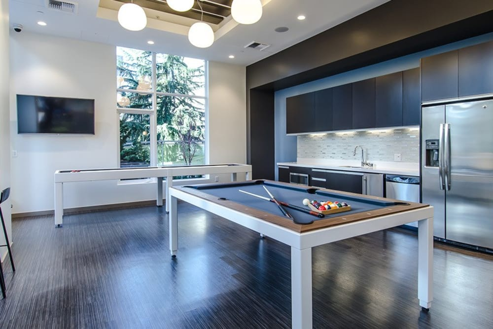 Billiards table at Cielo in Seattle, Washington