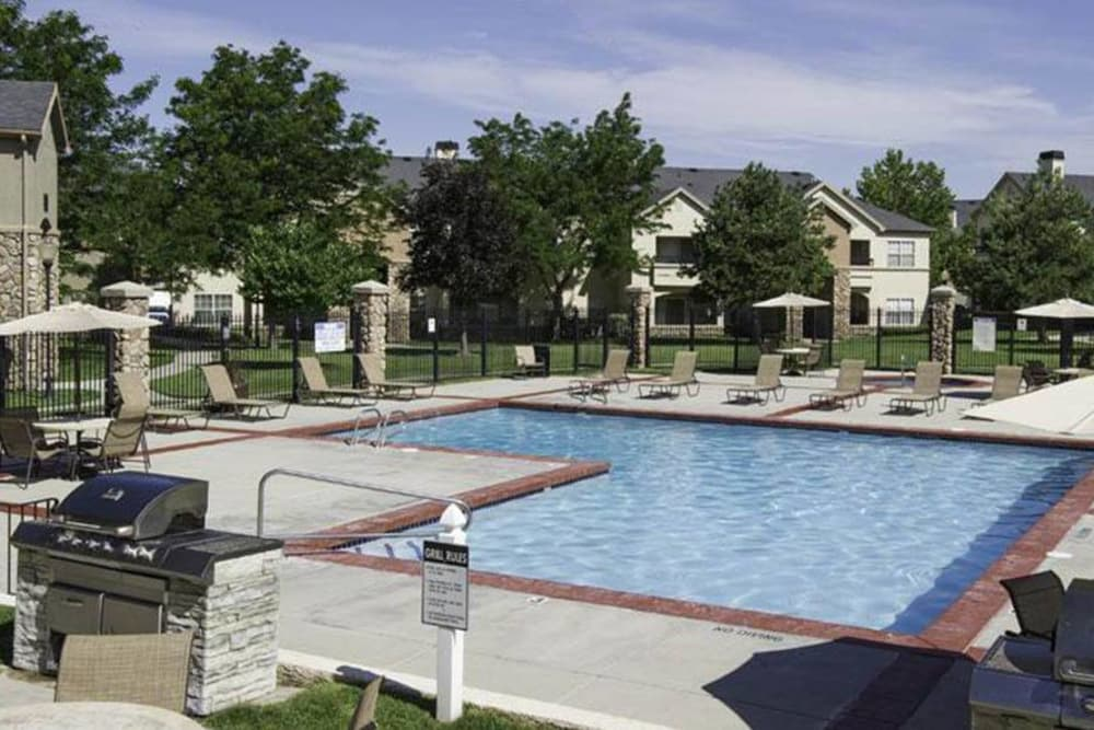 Exterior Pool At Alpine Meadows Apartments