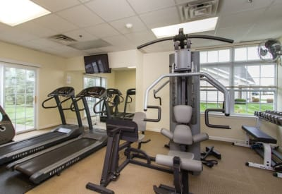 Fitness center at Villas of Victor & Regency Townhomes in Victor, New York