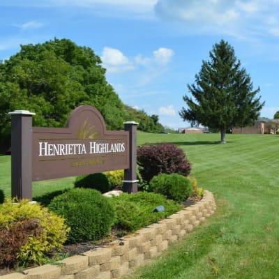 Signage at Henrietta Highlands in Henrietta, New York