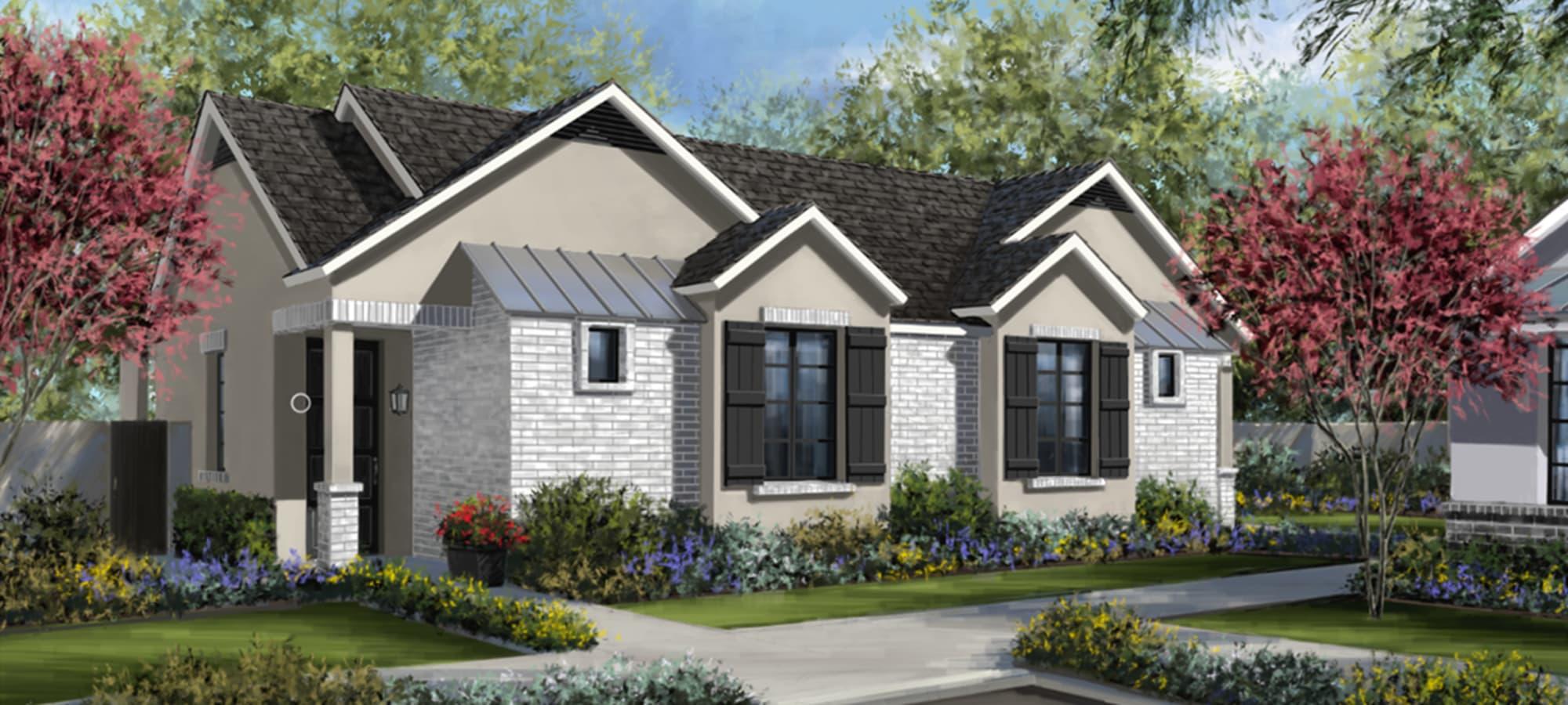 EVR Spur Cross exterior rendering of home in Queen Creek, Arizona