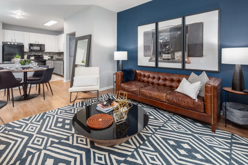 Open living room at Luxe at 1820 in Tampa, Florida