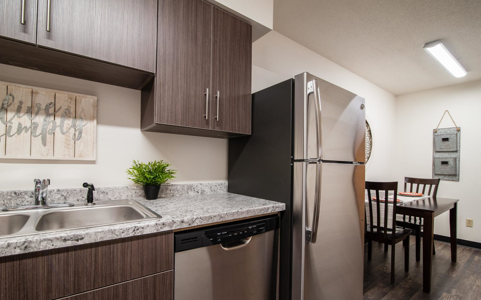 Spacious kitchen at South Meadow in Ames, Iowa.