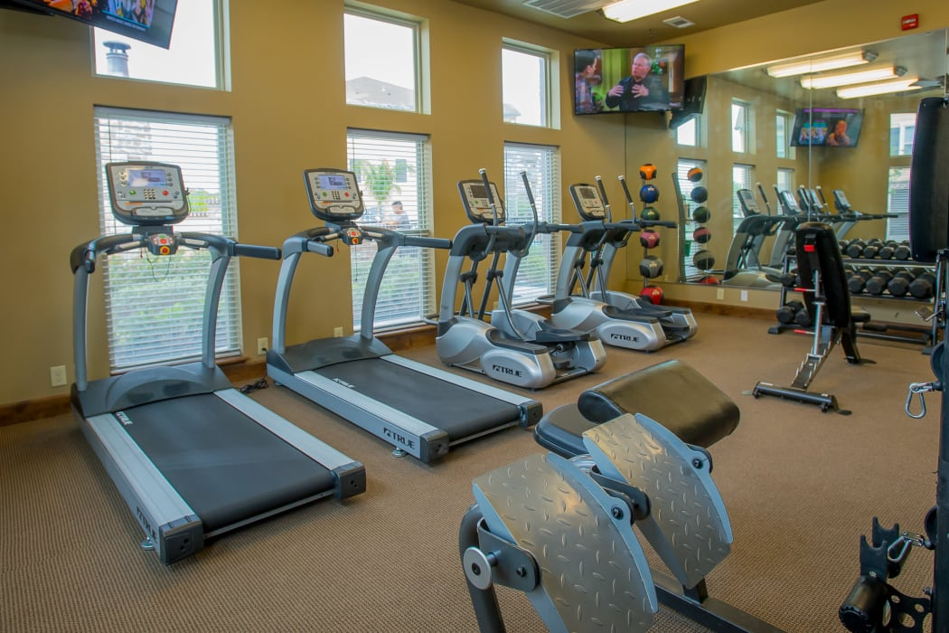 Fitness center for residents at Tuscana Bay Apartments in Corpus Christi, Texas