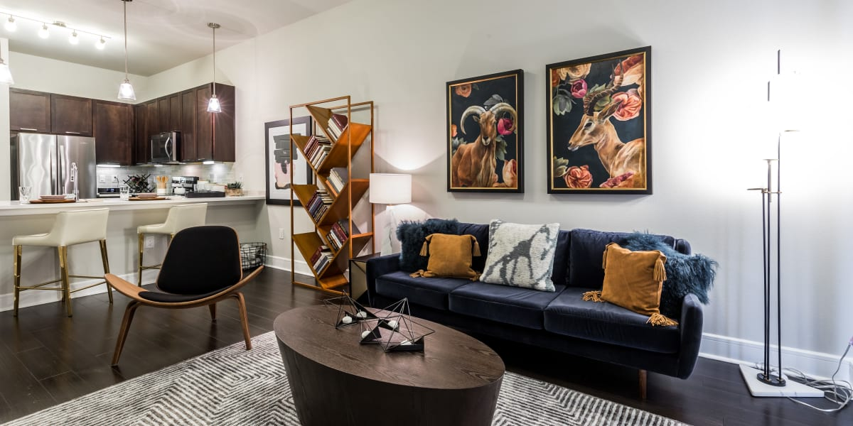Living room at Marq 31 in Houston, Texas