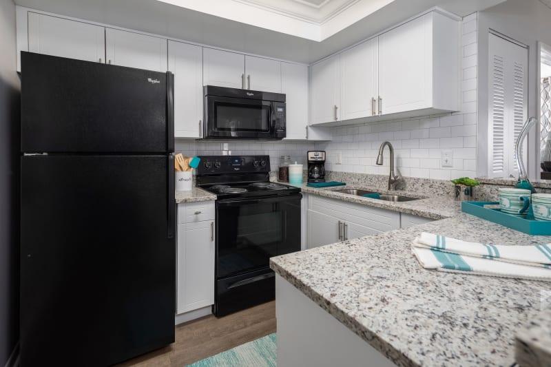 Granite countertop kitchen at The EnV in Hollywood, Florida
