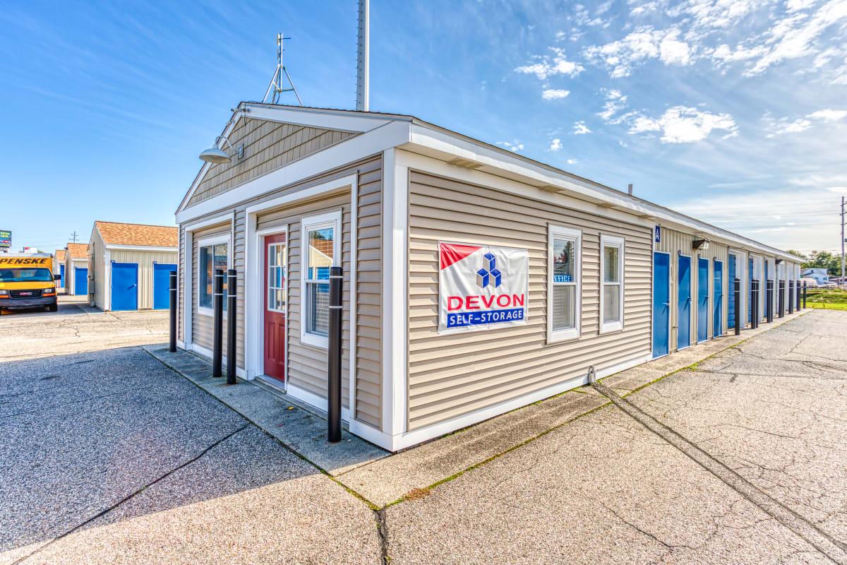 The leasing office in Jenison, Michigan at Devon Self Storage