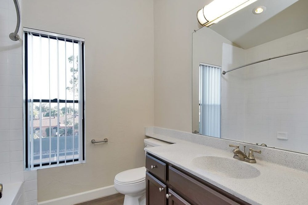 Beautiful bathroom at apartments in Phoenix, Arizona
