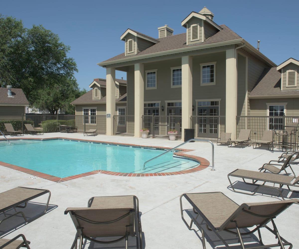 Resort style pool at Newport Wichita in Wichita, Kansas