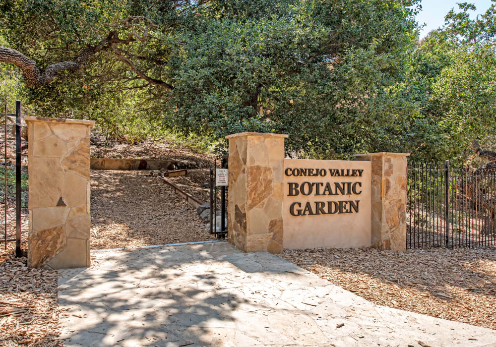Entrance to the Conejo Valley Botanic Garden near Sofi Thousand Oaks in Thousand Oaks, California
