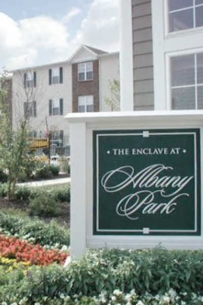 Hallway at Enclave at Albany Park in Westerville, Ohio