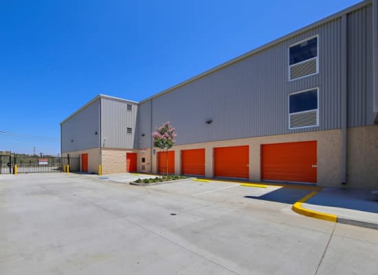 Wide driveway for easy access to outdoor units at A-1 Self Storage in San Diego, California