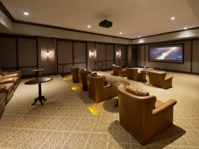 Onsite movie theater at Doral Station in Miami, Florida