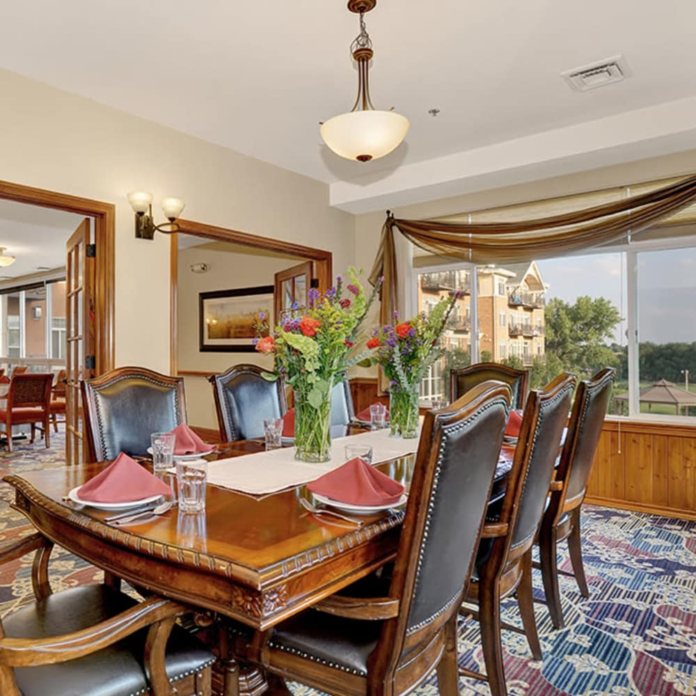 Formal Dining Area at Hillcrest of Loveland in Loveland, Colorado