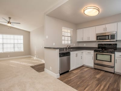 Open floor plan at Slate Creek Apartments in Roseville, California