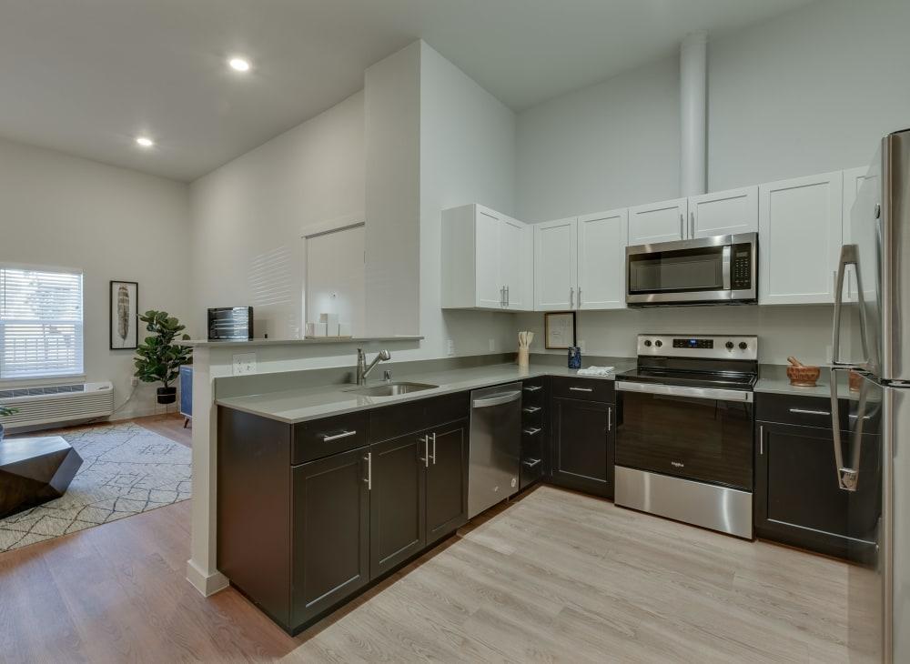 Sleek modern kitchen at Kestrel Park in Vancouver, Washington
