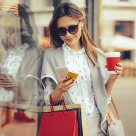 Woman shopping near New Medford in Medford, Oregon