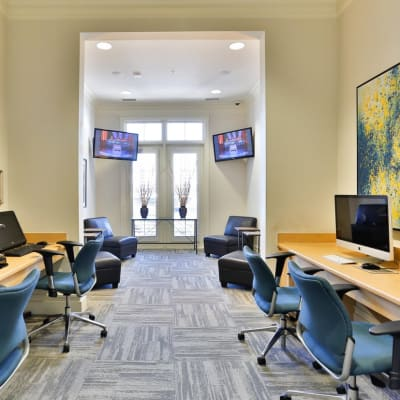Quality business center at Fountains at Mooresville Town Square in Mooresville, North Carolina