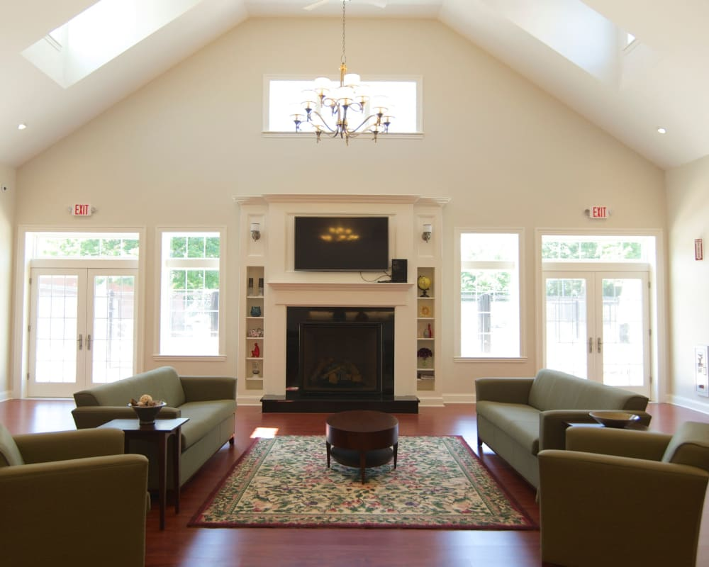 Great room at Park Village West in Westborough, Massachusetts