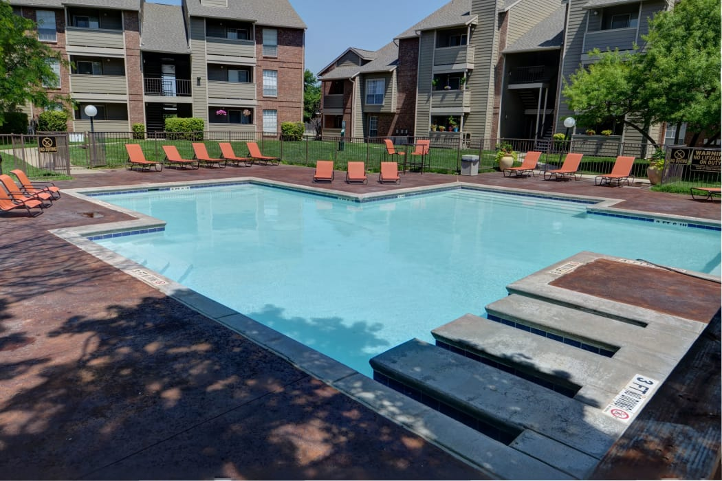 Swimming pool at Newport Apartments in Amarillo, Texas