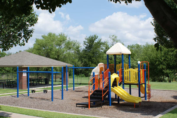 Kid's park in Carrollton Park of North Dallas