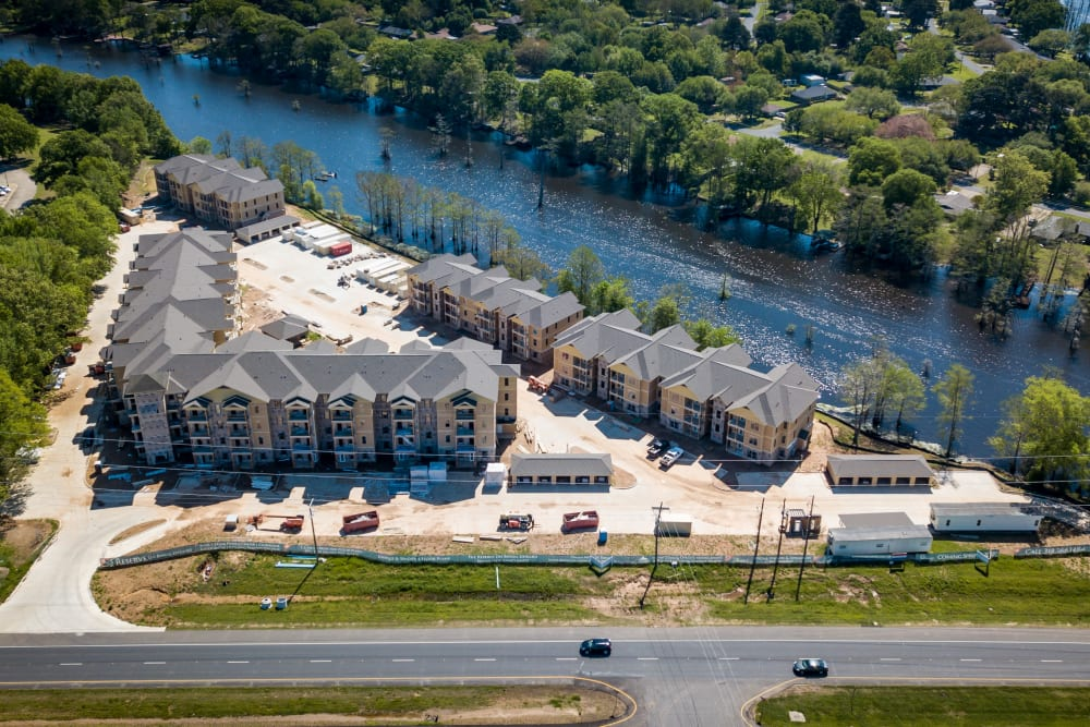 View of our apartments at The Reserve on Bayou DeSiard in Monroe, Louisiana