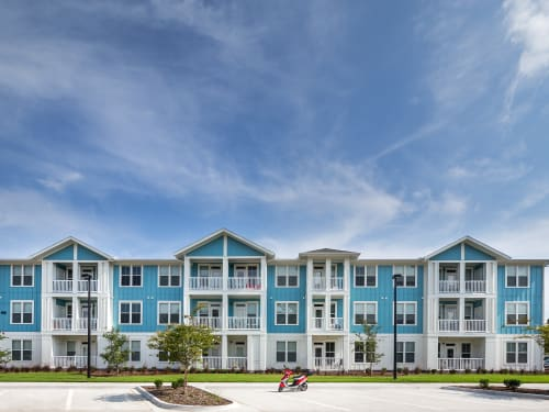 Take a look at our lovely neighborhood at BluWater Apartments in Jacksonville Beach, Florida