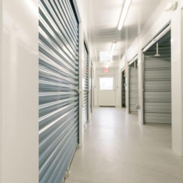 Indoor storage units at StayLock Storage in Noblesville, Indiana