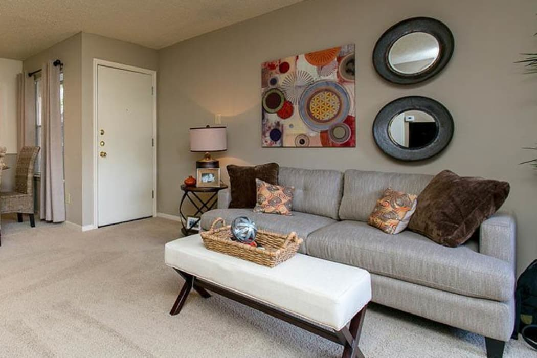 Wonderful living room at Walnut Ridge Apartments in Corpus Christi, Texas