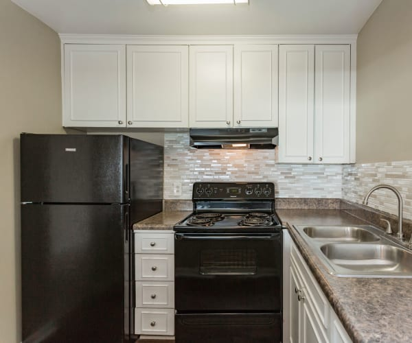 Model kitchen at Belmont Place in Nashville, Tennessee