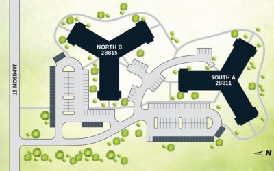 Site map for Parkside of Livonia in Livonia, Michigan