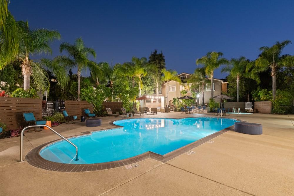 Resort-style swimming pool at Sofi Westview in San Diego, California