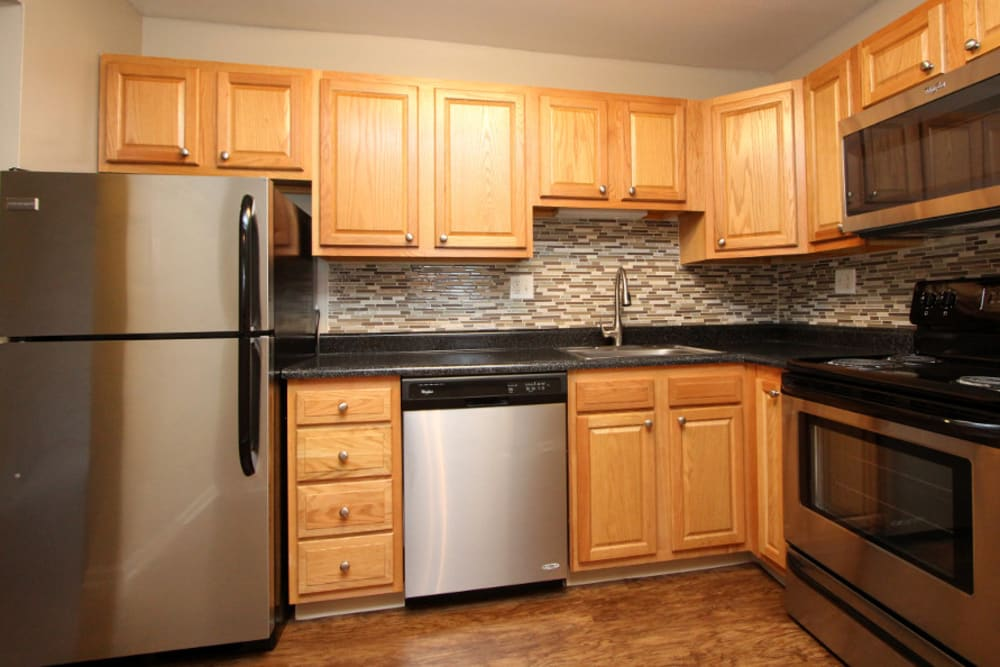 Kitchen space at Cypress Place in Elk Grove Village, Illinois
