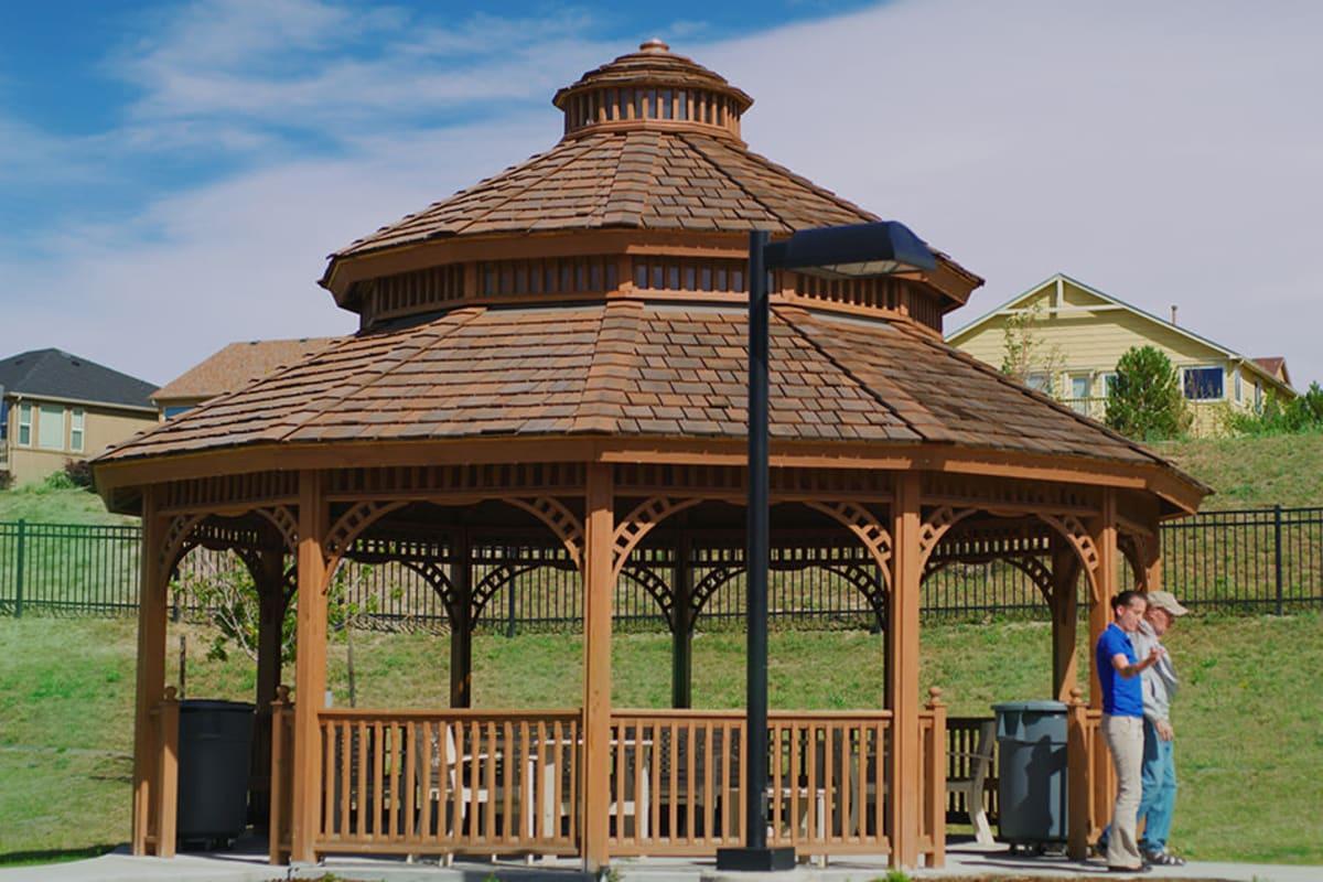 Gazebo at New Dawn Memory Care in Colorado Springs, Colorado