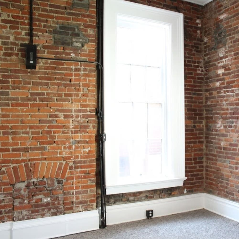 Large window in apartment at The Maven @ 806 in Louisville, Kentucky