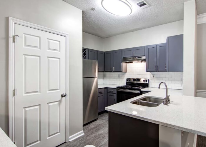 Upgraded kitchen at Jefferson at Perimeter Apartments