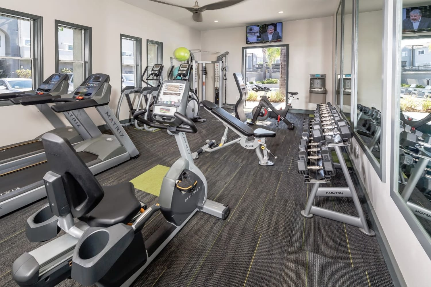 Fitness center at Madrid Apartments in Mission Viejo, California