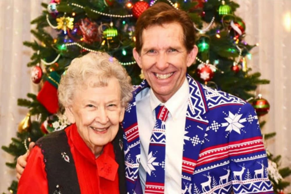 Holiday party at River Commons Senior Living in Redding, California