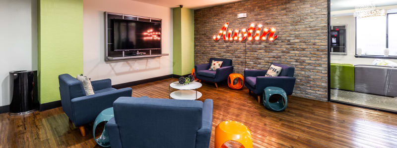 Clubroom at Regents West at 24th in Austin, Texas