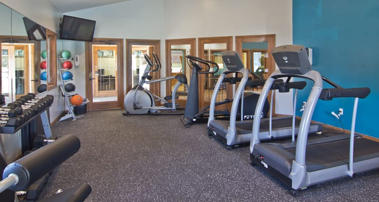 Stay health in our fitness center at The Summit at Ridgewood