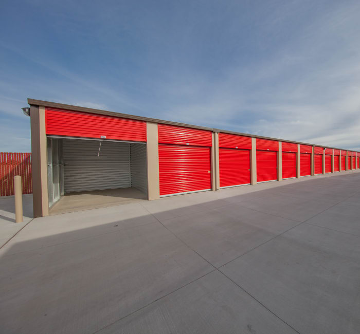 Drive-up units at Tracy self storage