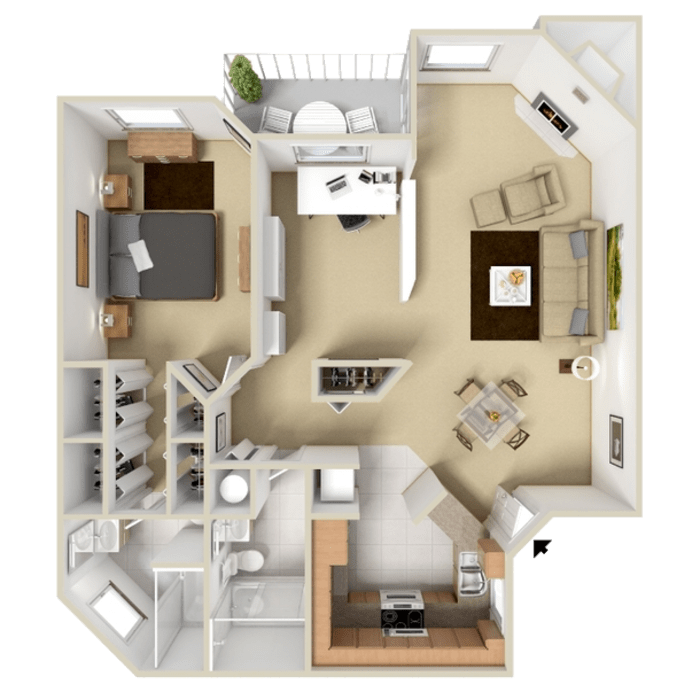 1 Bedroom 966 sq.ft  apartment in Westminster, Colorado