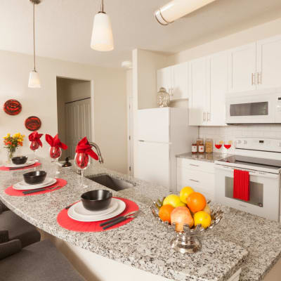 Kitchen at The Avenue Apartments In Lakeland