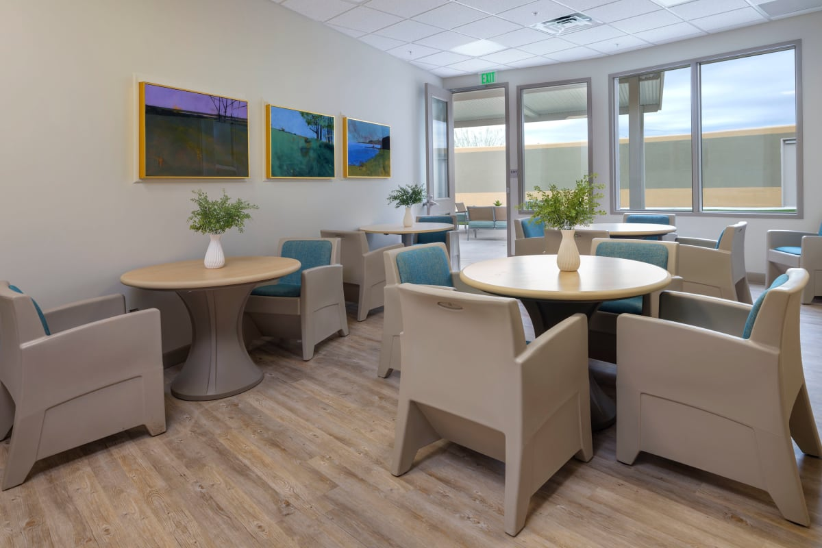 Communal area for residents at Avenir Behavioral Health Center in Surprise, Arizona.